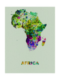 Africa Color Splatter Map Metal Print by  NaxArt