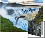 Alone at the Raging Waterfall of Gulfoss Metal Print by Trey Ratcliff