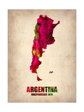 Argentina Watercolor Map Metal Print by  NaxArt