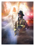 Got Your Back - Firefighter Prints by Danny Hahlbohm