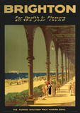 Brighton (Maderia Drive) England Vintage Style Travel Poster Masterprint