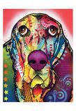 Basset Poster par Dean Russo
