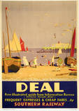 Deal Vintage Style Travel Poster Masterprint