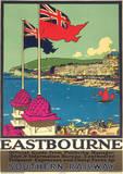 Eastbourne Vintage Style Travel Poster Masterprint