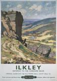Ilkley Vintage Style Travel Poster Masterprint