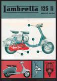 Lambretta Scooter (125 Li) Vintage Style Poster Masterprint