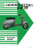 Lambretta Scooter (Tv 175) Vintage Style Poster Masterprint