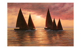 Dream Sails Print by Diane Romanello