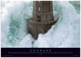 Courage Motivational Poster Masterprint