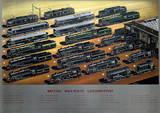 Br Locomotives Vintage Style Travel Poster Masterprint