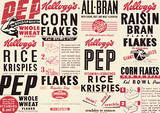 Vintage Kelloggs (Box Montage) Advertisment Poster Masterprint