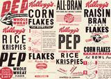 Vintage Kelloggs (Box Montage) Advertisment Poster Masterprint