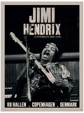 Jimi Hendrix (Copenhagen) Music Poster Mestertrykk