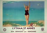 Lytham St Annes Vintage Style Travel Poster Masterprint