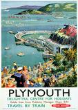 Plymouth Vintage Style Travel Poster Neuheit