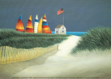 Summer Rentals Poster by Lowell Herrero