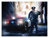 Police Officer Print by Danny Hahlbohm