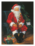 Santa Is In Posters by Susan Comish
