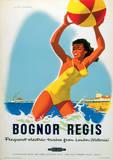 Bognor Regis Vintage Style Travel Poster Masterprint