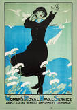 Imperial War Museum (Womens Royal Navy) Vintage Style Travel Poster Masterprint