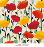 Cheerful Poppies Posters by Carrie Schmitt