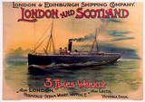 London and Scotland Shipping Company Vintage Style Travel Poster Masterprint
