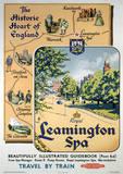Leamington Spa (England) Vintage Style Travel Poster Masterprint