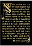 Game Of Thrones (Season 3 - Nightwatch Oath) Television Poster Masterprint