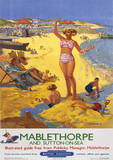 Mablethorpe, Lincolnshire, England Vintage Style Travel Poster Masterprint