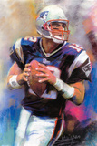 Tom Brady New England Patriots POSTER NFL Super Bowl Print