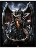 Spiral (Dragon Lava) Fantasy Poster Masterprint