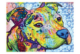 Thoughtful Pit Bull This Years Love II Prints by Dean Russo