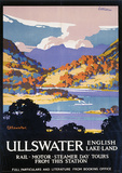 Ullswater, England Vintage Style Travel Poster Masterprint