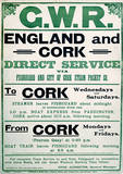 Gwr England & Cork Vintage Style Travel Poster Masterprint