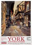 York Vintage Style Travel Poster - Masterprint
