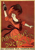 Absinthe Ducros Vintage Style Advertisement Poster Masterprint