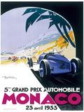 Monaco France (French Rivera) Vintage Style Travel Poster Masterdruck
