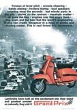 Lambretta Scooter (Grand Prix) Vintage Style Poster Masterprint