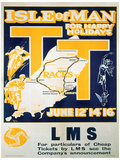Isle Of Man (Tt Races) British Islands Travel Poster Masterprint