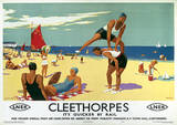 Cleethorpes, England Vintage Style Travel Poster Masterprint