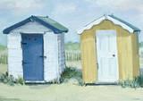 Jane Hewlett (Two Beach Huts) Poster Masterprint