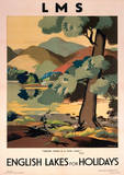 English Lakes For Holidays Vintage Style Travel Poster Masterprint