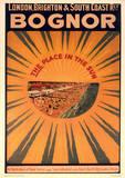 Bognor, England Vintage Style Travel Poster Masterprint