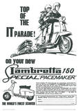 Lambretta Scooter (Top Of The It Parade) Vintage Style Poster Masterprint