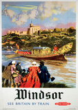 London, England (Windsor) Vintage Style Travel Poster Masterprint