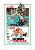 James Bond (Thunderball Look Out) Movie Poster Print Masterprint