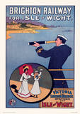Brighton, England Vintage Style Travel Poster Masterprint