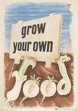Imperial War Museum (Grow Your Own Food) Vintage Style Travel Poster Lámina maestra