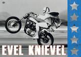 Evel Knievel - Wheelie Motorcycle Poster Masterprint