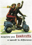 Lambretta Scooter (Differenza) Vintage Style Poster Masterprint